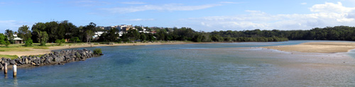 Amazing panoramas over the Coffs Creek estuary at the coastal end of the walk