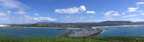 View from the top of Muttonbird Island over Coffs Harbour