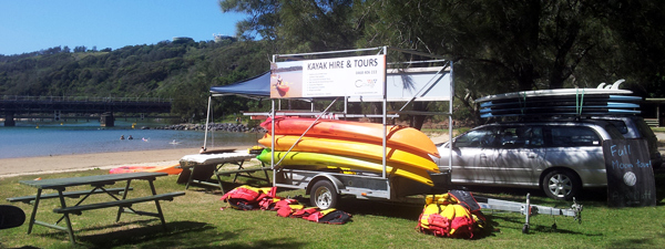 Kayak hire and tours at Boambee Creek Reserve in Sawtell near Coffs Harbour