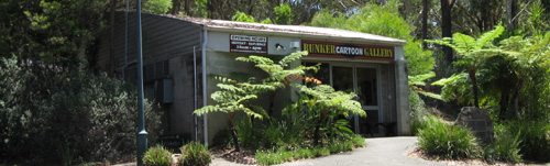 The historic but quirky Bunker Cartoon Gallery in Coffs Harbour
