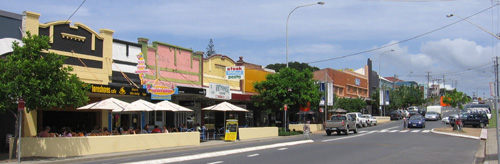 Part of Coffs Harbour's 'eat street' - the Jetty Strip with over a dozen cafés and restaurants