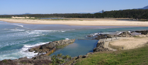 The rock pool on Bonville Headland, Sawtell