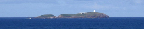 South Solitary Island and its Lighthouse as seen from the headland