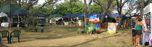 There's a wonderfully relaxed atmosphere at the Harbourside Markets