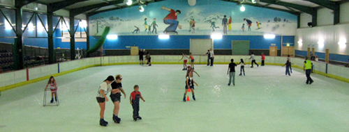 Ice skating at The Big Banana ice rink in Coffs Harbour NSW Australia
